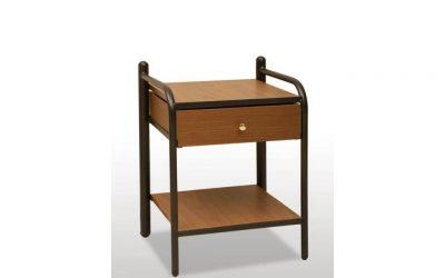 Метално нощно шкафче с чекмедже и рафт 40x57x36cm DIOMMI (30-007)